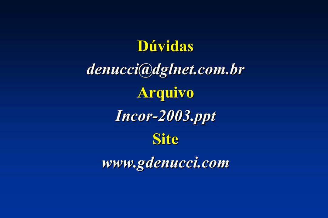 Dúvidas denucci@dglnet.com.br Arquivo Incor-2003.ppt Site www.gdenucci.com Dúvidas denucci@dglnet.com.br Arquivo Incor-2003.ppt Site www.gdenucci.com