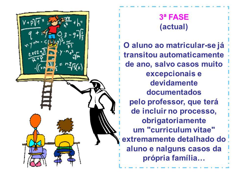 2ª FASE ( até 1992) O aluno ao matricular-se arriscava-se a passar…