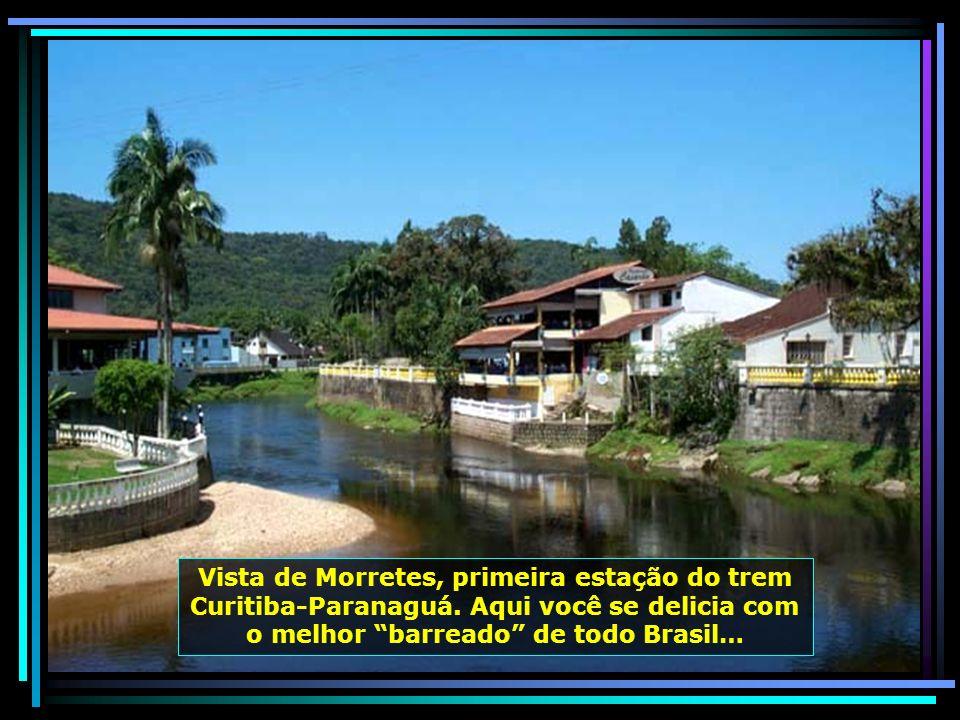 Em Curitiba, o passeio de trem pela serra do mar, indo de Curitiba até Paranaguá, é algo indescritível: cascatas, riachos, canyons…