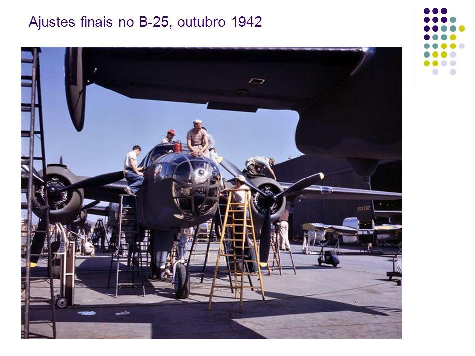 Preparação do modelo do B-25 para o túnel de vento Long Beach, 1942