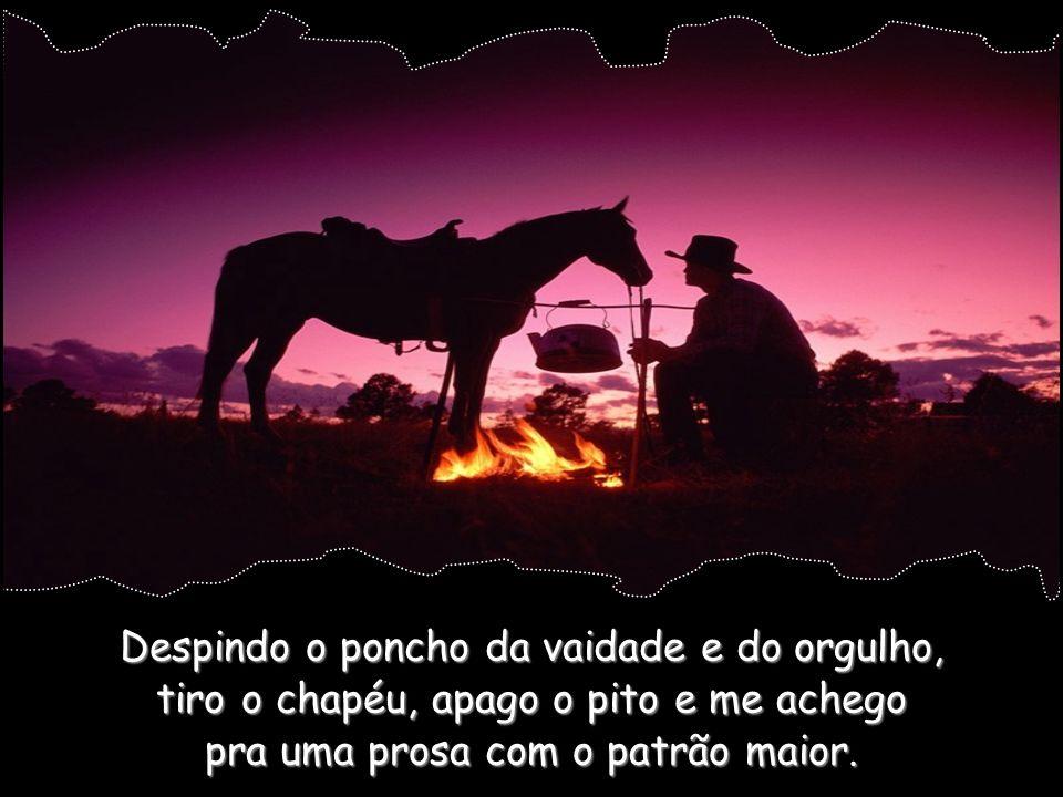 No rancho que há no interior de mim mesmo, eu, gaúcho de fé, me arrincono e medito.