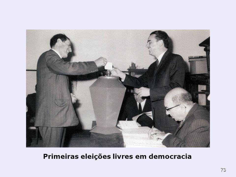73 Primeiras eleições livres em democracia