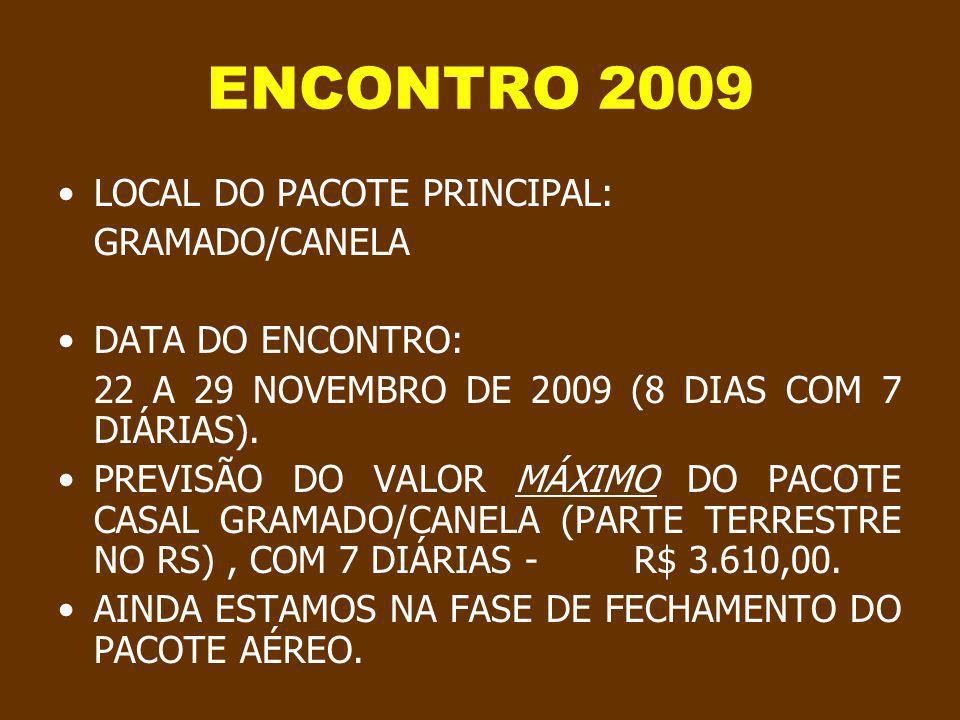 Progressão automática ENCONTRO TUDUCAX 2009 INFORMAÇÕES DIVERSAS Créditos da produção original, imagens e músicas no ultimo slide