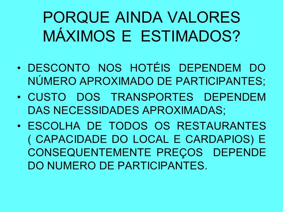 PROGRAMA TENTATIVA PARA 2008 COMPROMISSO CNCA ACERCA DE VALORES MÁXIMOS
