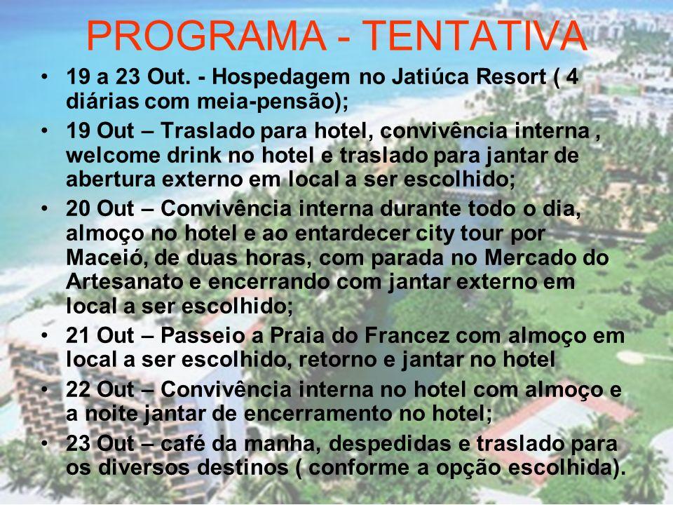 PROGRAMA PRINCIPAL ALFA MACEIÓ – 19 A 23 OUTUBRO 2008