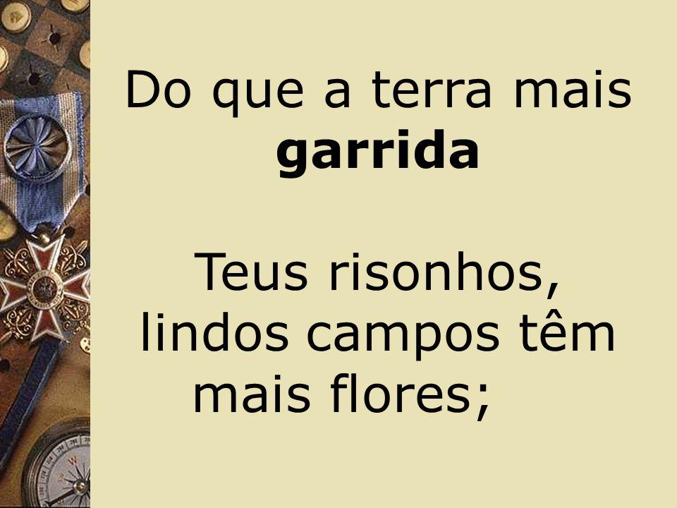 Fulguras, ó Brasil, florão da América, Iluminado ao sol do Novo Mundo!