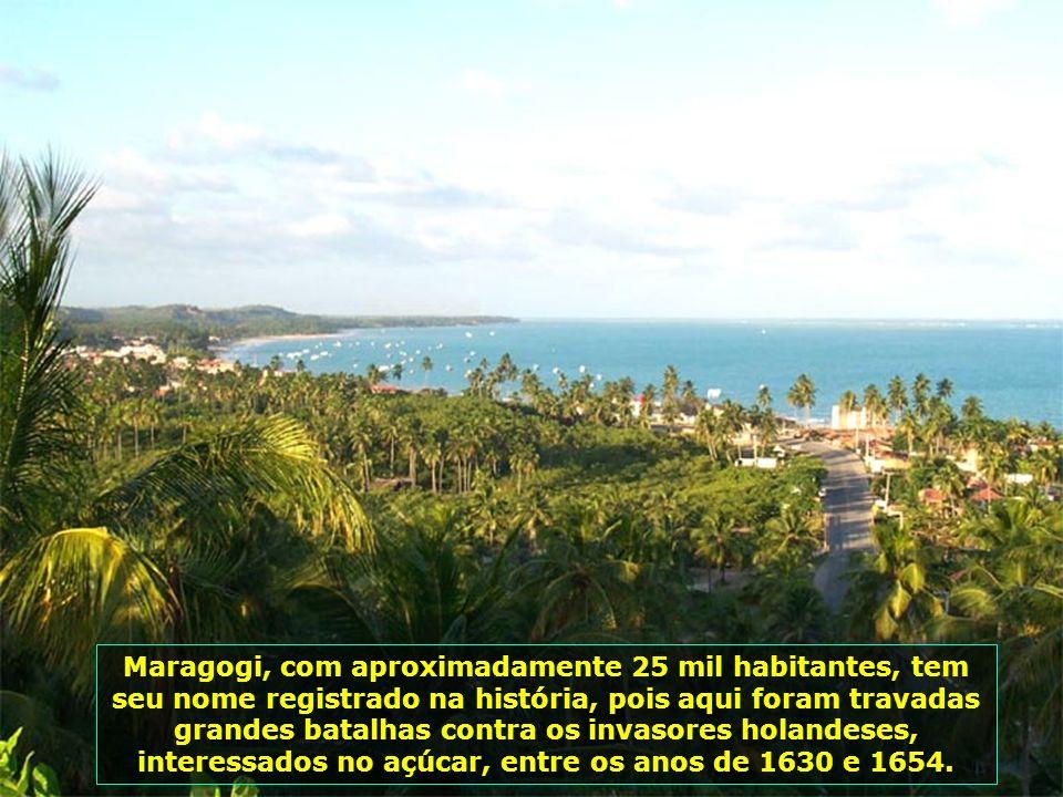 Maragogi, fundada em 1892, localiza-se no norte de Alagoas, Brasil. Pequena cidade litorânea, destaca-se pela beleza de suas praias e de suas piscinas
