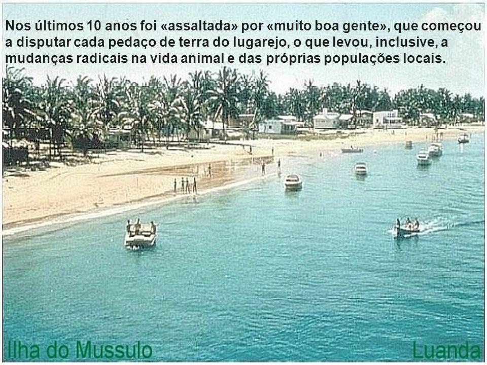 Mussulo Rasgando o mar a Sul da capital angolana, a Ilha do Mussulo, um banco de areia algo estreito mas de bastantes quilómetros, fez desde sempre as