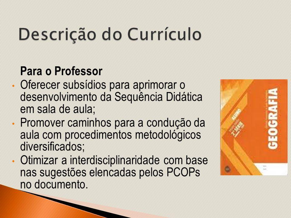 Para o Professor Oferecer subsídios para aprimorar o desenvolvimento da Sequência Didática em sala de aula; Promover caminhos para a condução da aula