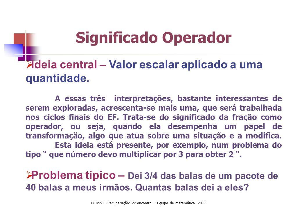 Significado Operador Ideia central – Valor escalar aplicado a uma quantidade. A essas três interpretações, bastante interessantes de serem exploradas,