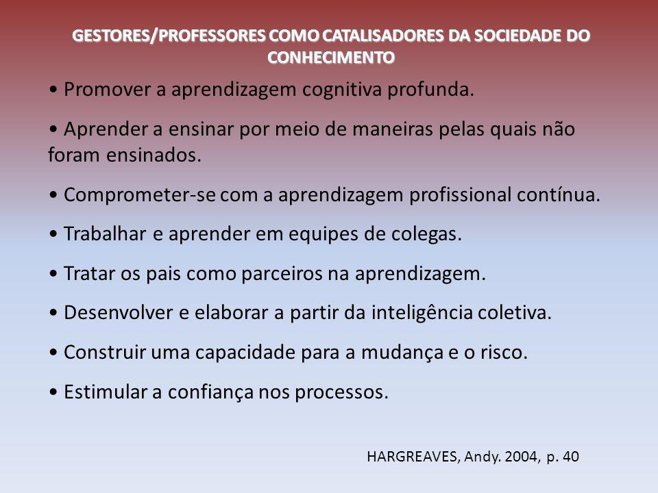 Partindo dos temas abordados: Qual é o papel do Gestor/Professor na Sociedade do conhecimento?