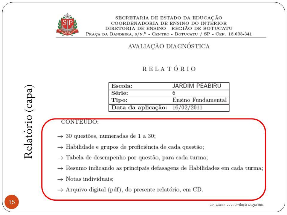 OP_DERSV-2011-Avaliação Diagnóstica 15 Relatório (capa)