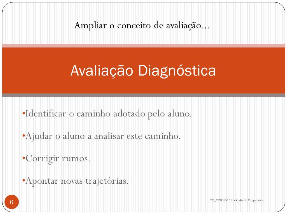 Relatório Diferenciado OP_DERSV-2011-Avaliação Diagnóstica 17