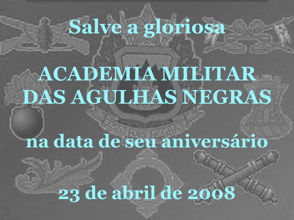 Salve a gloriosa ACADEMIA MILITAR DAS AGULHAS NEGRAS na data de seu aniversário 23 de abril de 2008