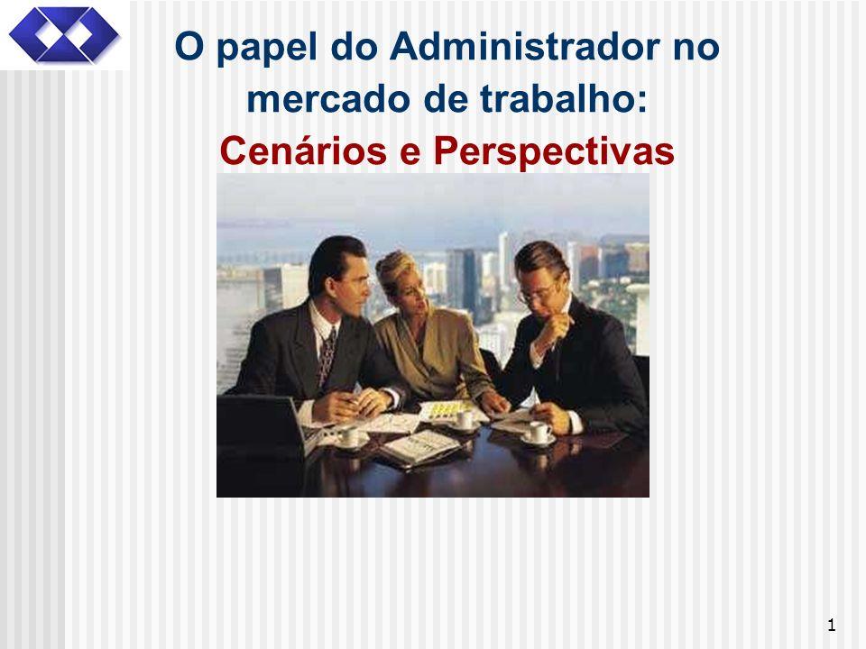 1 O papel do Administrador no mercado de trabalho: Cenários e Perspectivas