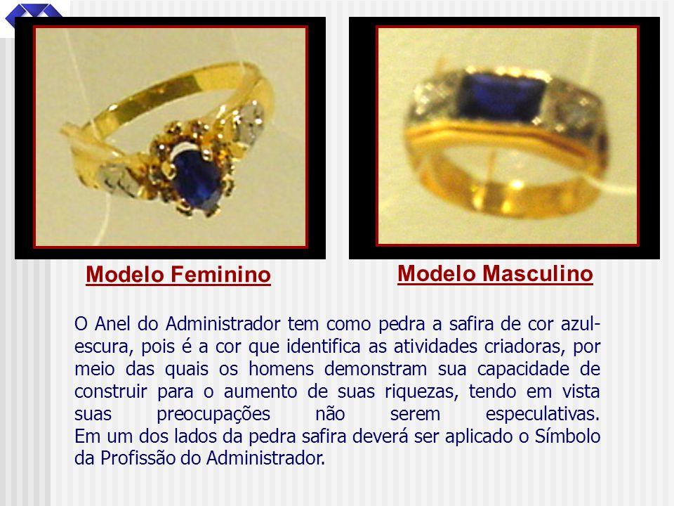 O Anel do Administrador tem como pedra a safira de cor azul- escura, pois é a cor que identifica as atividades criadoras, por meio das quais os homens
