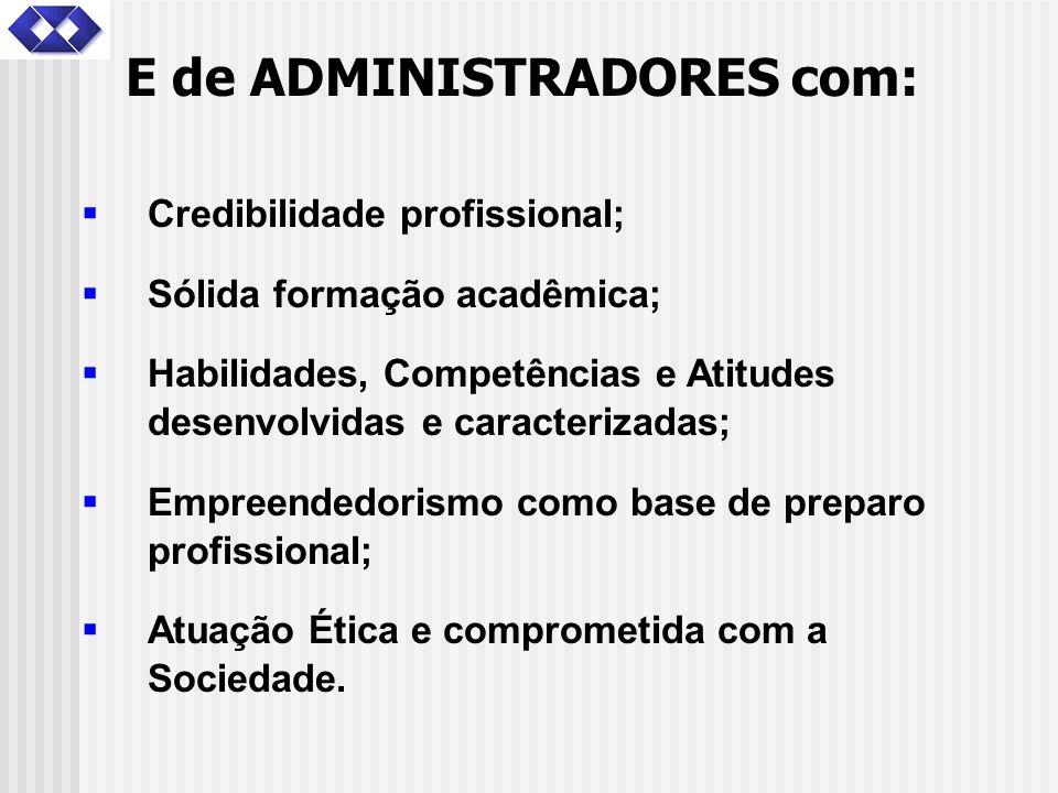Credibilidade profissional; Sólida formação acadêmica; Habilidades, Competências e Atitudes desenvolvidas e caracterizadas; Empreendedorismo como base