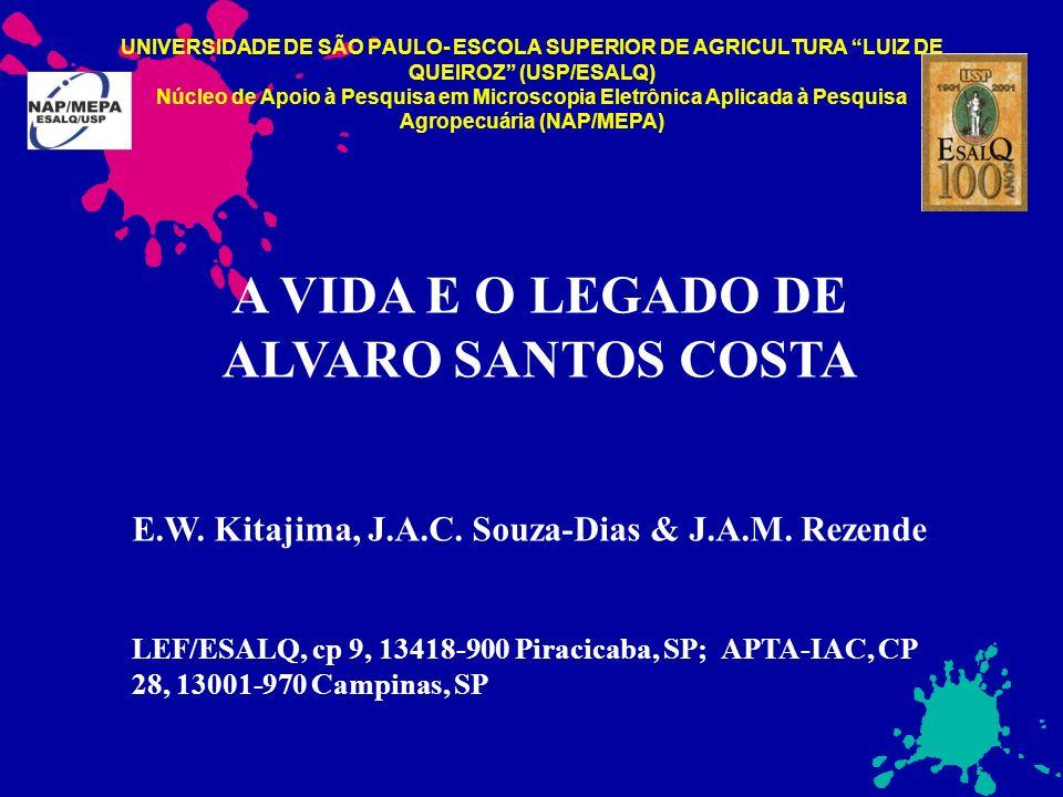 UNIVERSIDADE DE SÃO PAULO- ESCOLA SUPERIOR DE AGRICULTURA LUIZ DE QUEIROZ (USP/ESALQ) Núcleo de Apoio à Pesquisa em Microscopia Eletrônica Aplicada à