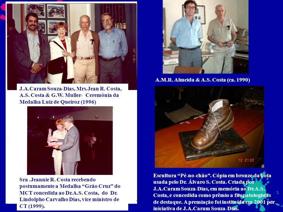 A.M.R. Almeida & A.S. Costa (ca. 1990) J.A.Caram Souza-Dias, Mrs.Jean R. Costa, A.S. Costa & G.W. Muller- Ceremônia da Medalha Luiz de Queiroz (1996)