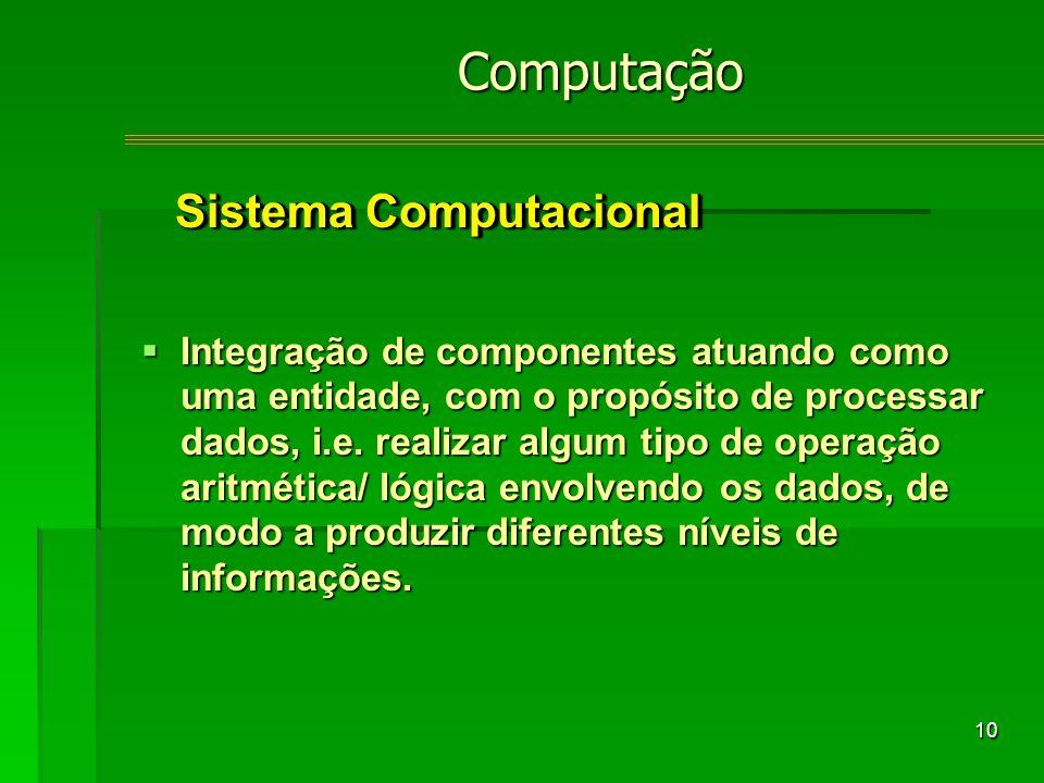 10 Integração de componentes atuando como uma entidade, com o propósito de processar dados, i.e.