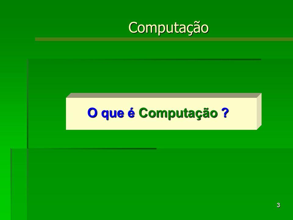 3 O que é Computação ? Computação
