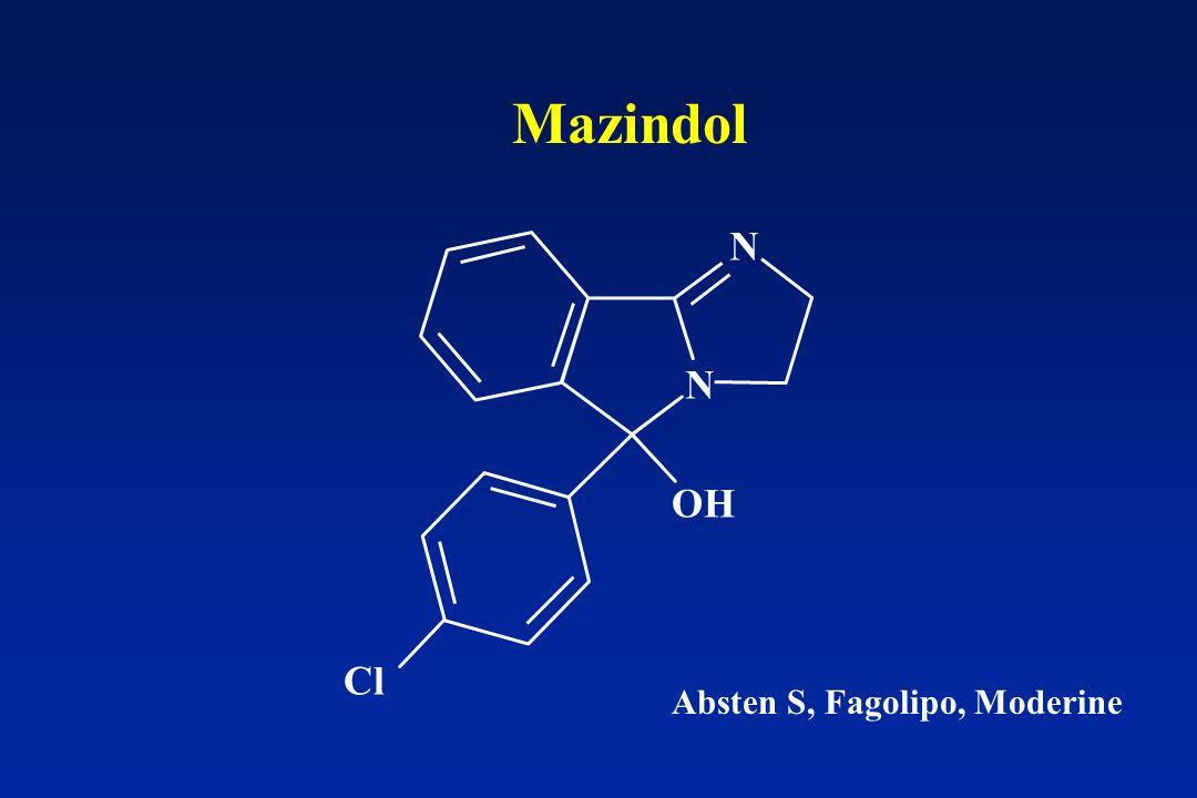 OH N N Cl Mazindol Absten S, Fagolipo, Moderine