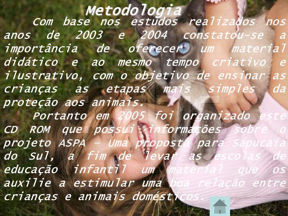 Metodologia Com base nos estudos realizados nos anos de 2003 e 2004 constatou-se a importância de oferecer um material didático e ao mesmo tempo criat