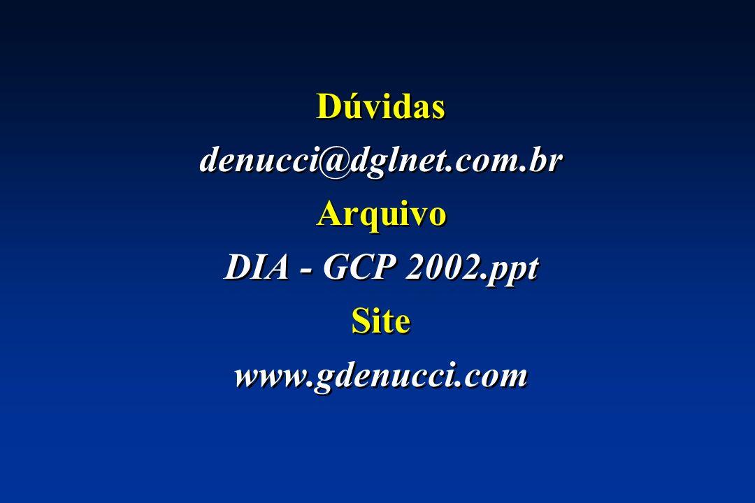 Dúvidas denucci@dglnet.com.br Arquivo DIA - GCP 2002.ppt Site www.gdenucci.com Dúvidas denucci@dglnet.com.br Arquivo DIA - GCP 2002.ppt Site www.gdenu