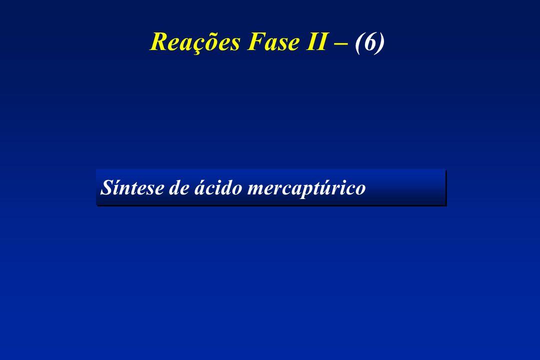 Reações Fase II – (6) Síntese de ácido mercaptúrico