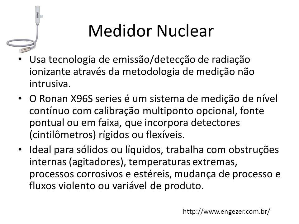 Medidor Nuclear Usa tecnologia de emissão/detecção de radiação ionizante através da metodologia de medição não intrusiva. O Ronan X96S series é um sis