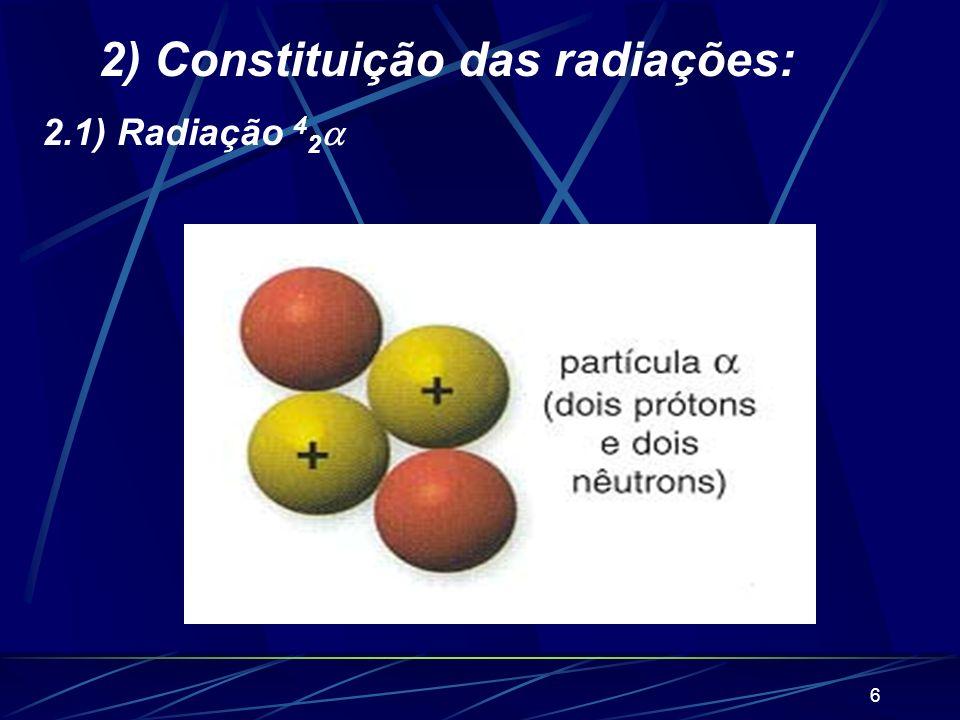 5 Rutherford utilizou uma amostra radioativa de polônio, alojada no interior de uma cavidade de um bloco de chumbo. A radiação emitida dirigia-se a um
