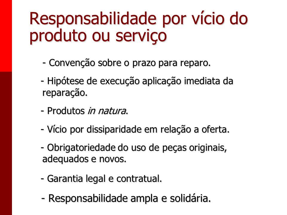 Responsabilidade por vício do produto ou serviço § 1° Não sendo o vício sanado no prazo máximo de trinta dias, pode o consumidor exigir, alternativame