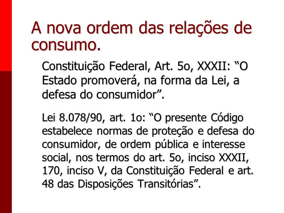 Generalidades e conceitos fundamentais. - A nova ordem das relações de consumo. - Política de consumo. - Política de consumo. - Conceitos fundamentais