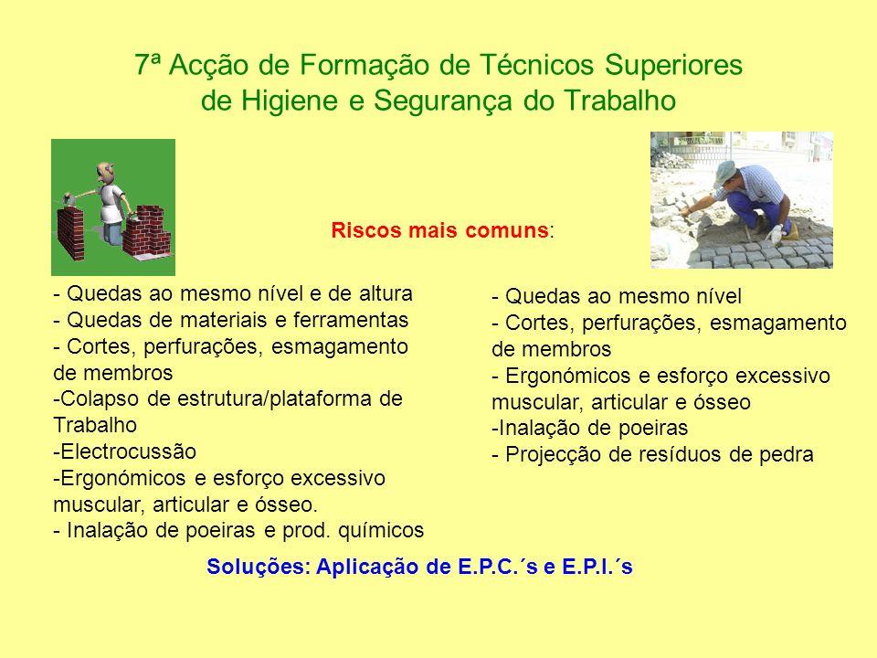 7ª Acção de Formação de Técnicos Superiores de Higiene e Segurança do Trabalho - Quedas ao mesmo nível e de altura - Quedas de materiais e ferramentas