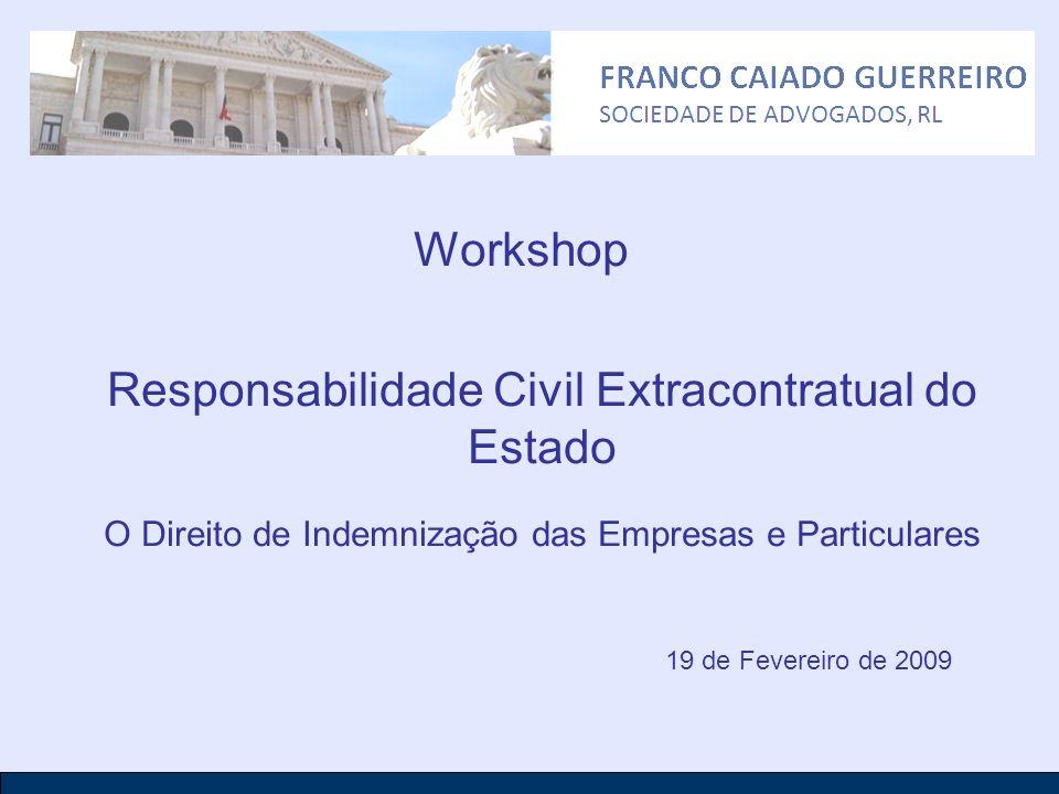 Workshop Responsabilidade Civil Extracontratual do Estado O Direito de Indemnização das Empresas e Particulares 19 de Fevereiro de 2009