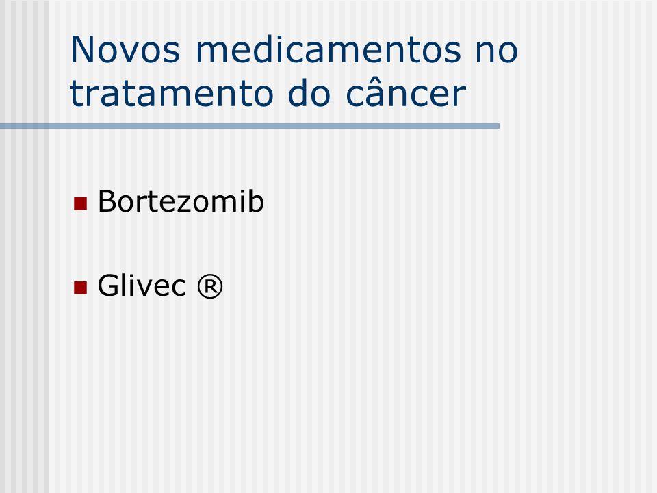 Novos medicamentos no tratamento do câncer Bortezomib Glivec ®