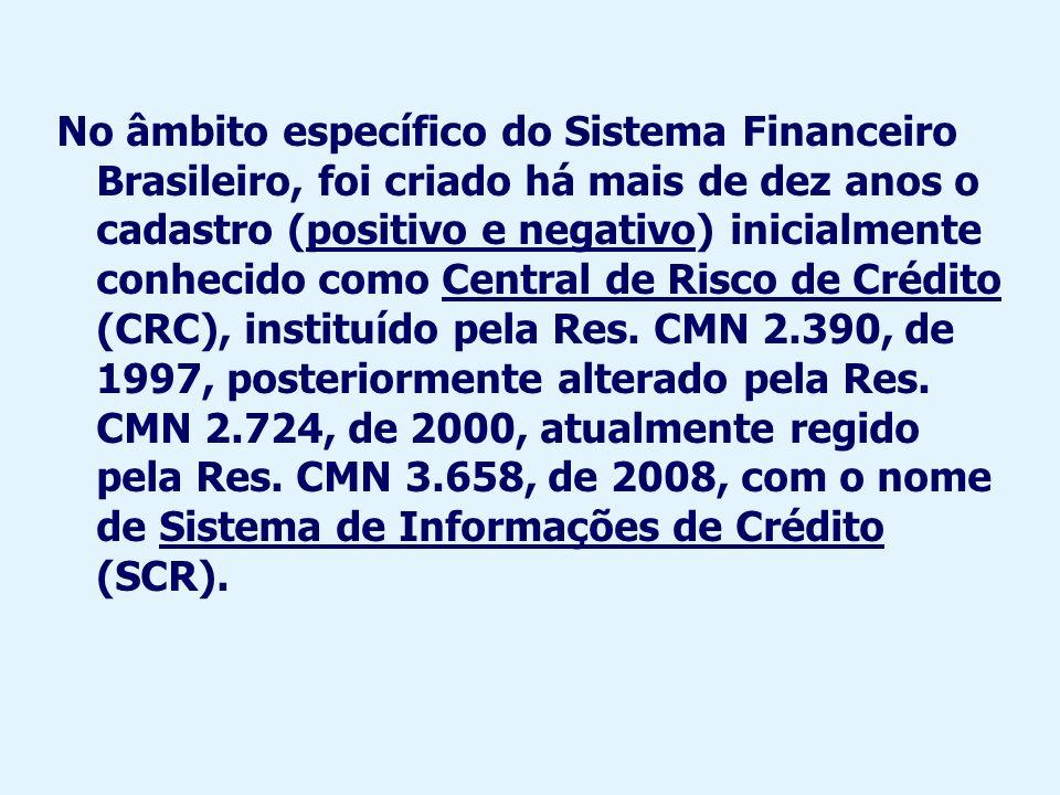 Esse sistema tem como objetivo principal: Prover informações ao BCB para fins de supervisão do risco de crédito a que estão expostas as instituições financeiras (Res.
