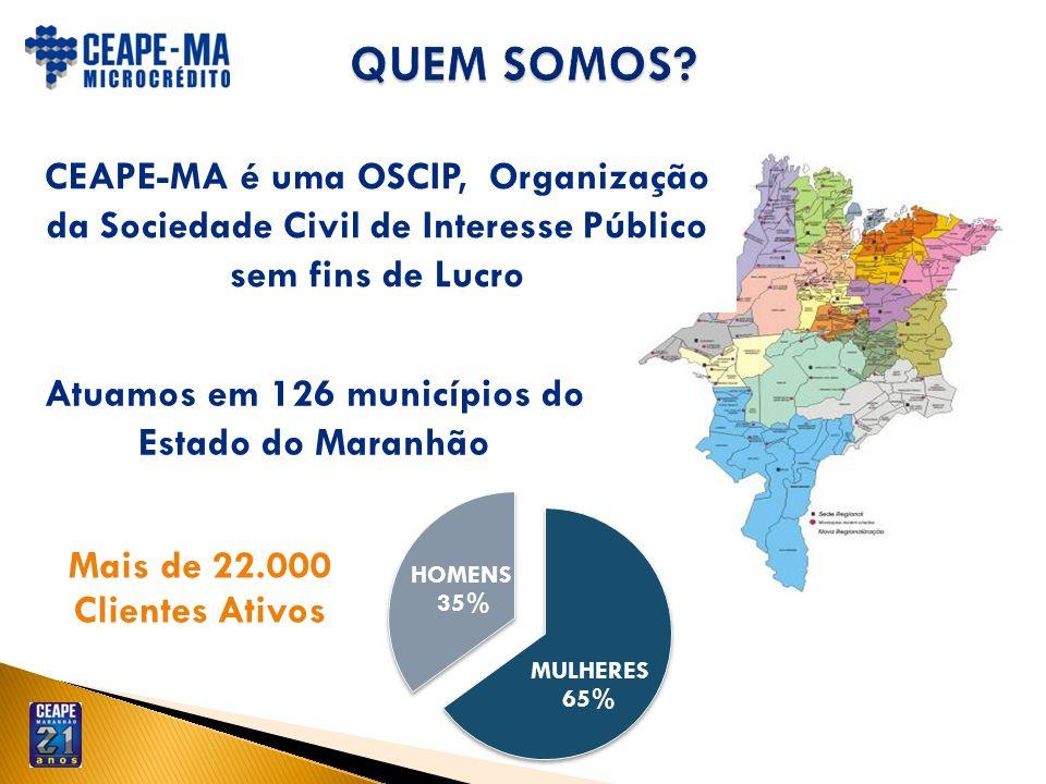CEAPE-MA é uma OSCIP, Organização da Sociedade Civil de Interesse Público sem fins de Lucro Atuamos em 126 municípios do Estado do Maranhão