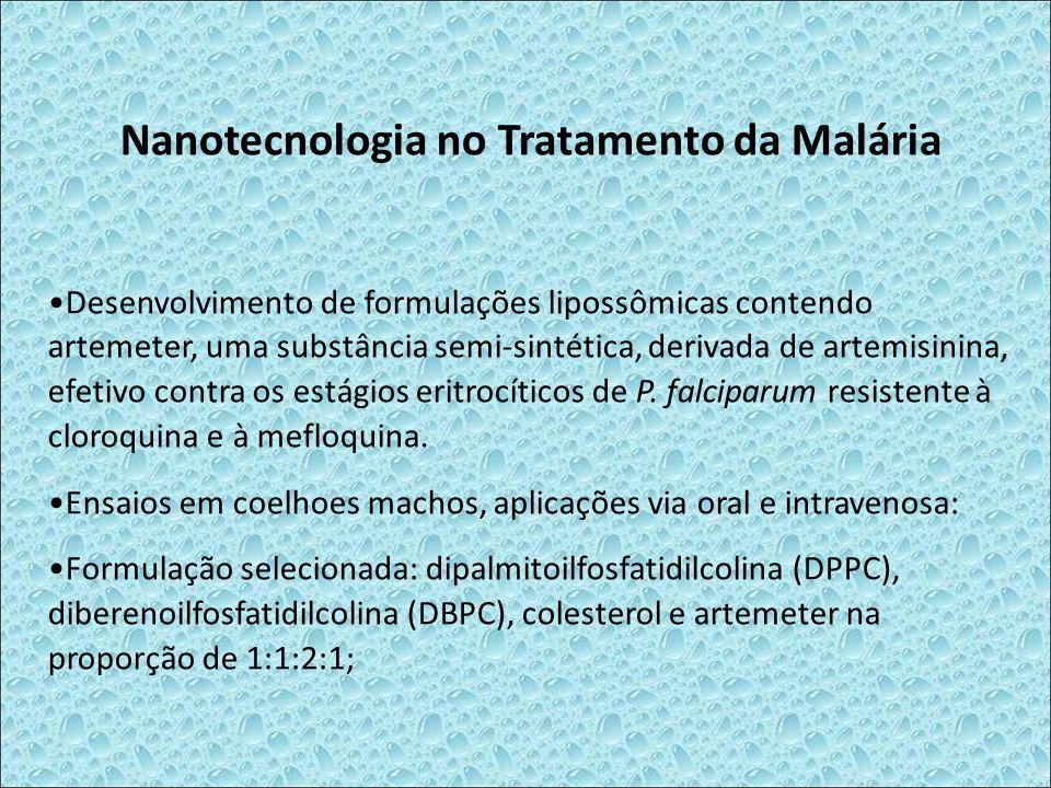 Nanotecnologia no Tratamento da Malária Desenvolvimento de formulações lipossômicas contendo artemeter, uma substância semi-sintética, derivada de art