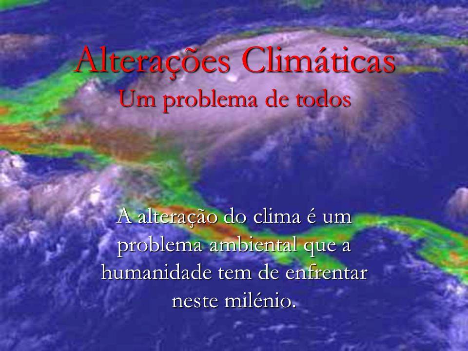 Alterações Climáticas Um problema de todos A alteração do clima é um problema ambiental que a humanidade tem de enfrentar neste milénio.