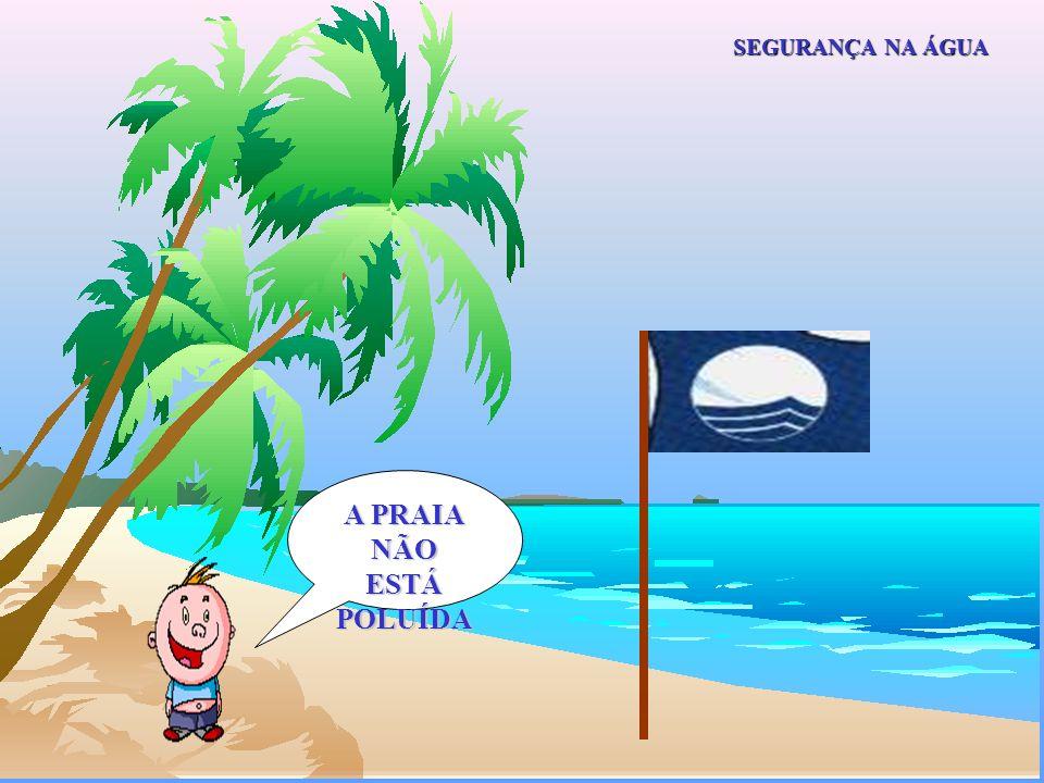 Atenção ás bandeiras... Pode-se nadar à vontade. SEGURANÇA NA ÁGUA