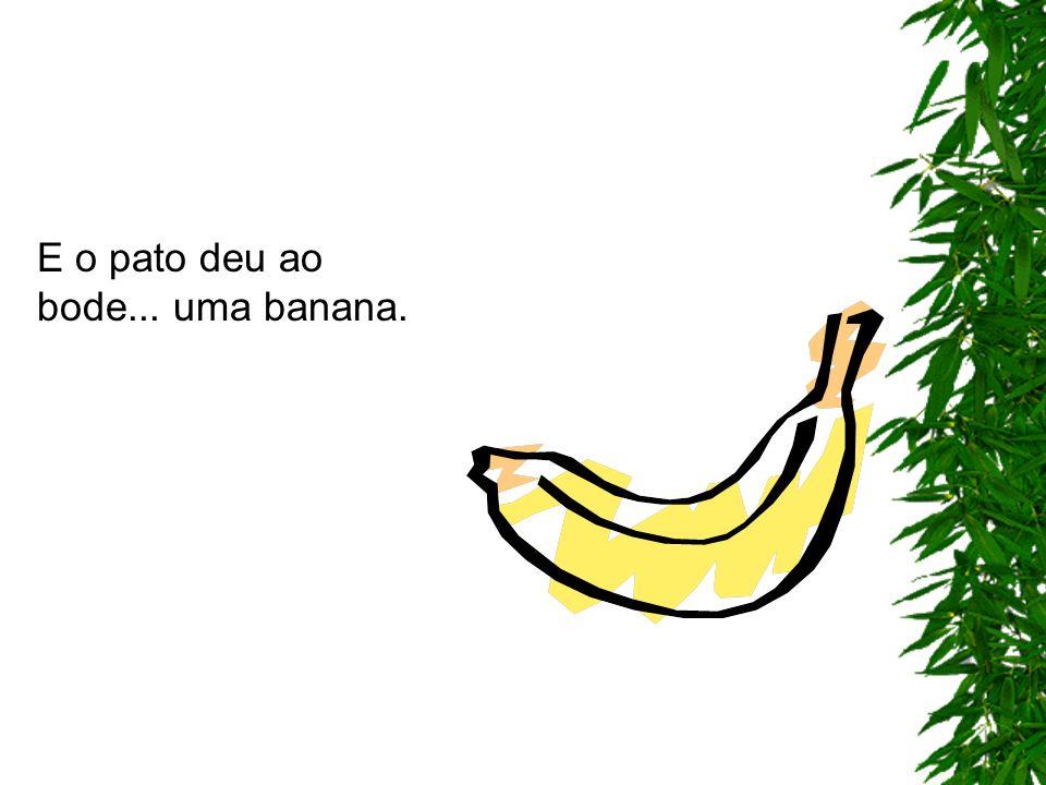 E o pato deu ao bode... uma banana.