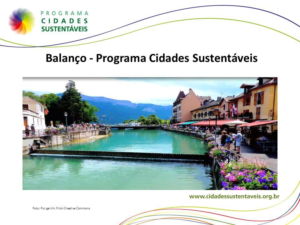 Balanço - Programa Cidades Sustentáveis Foto: Por gelinh. Flickr Creative Commons
