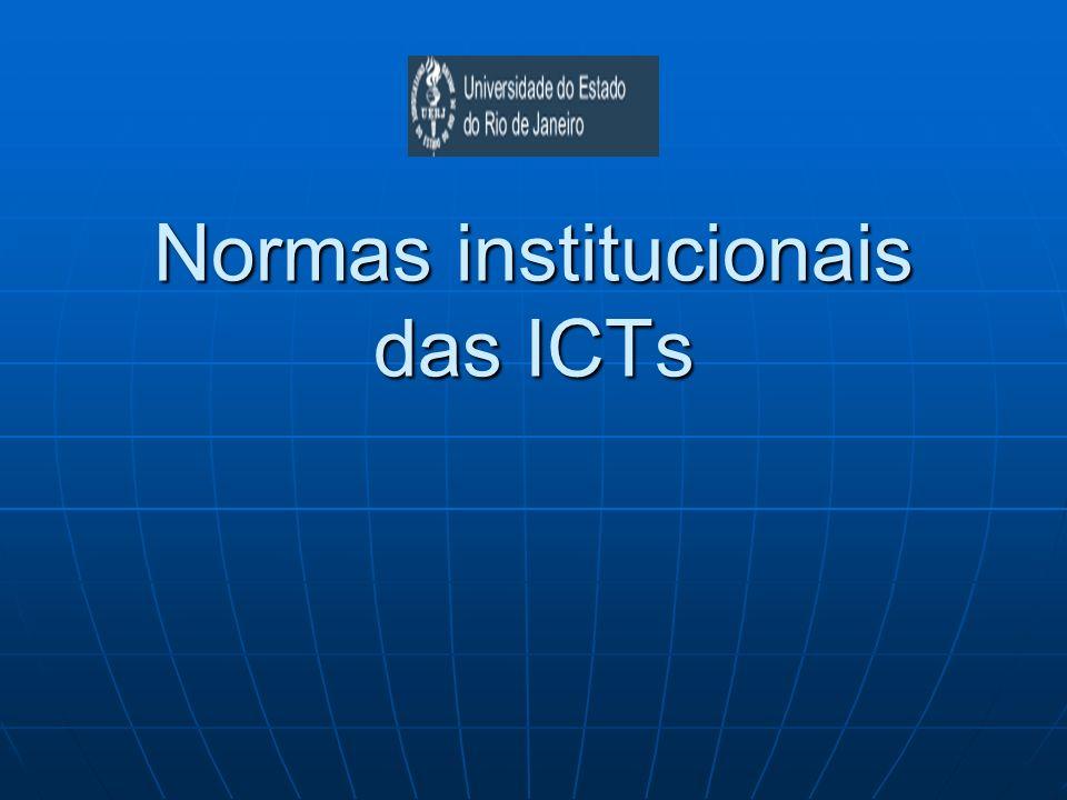 Normas institucionais das ICTs