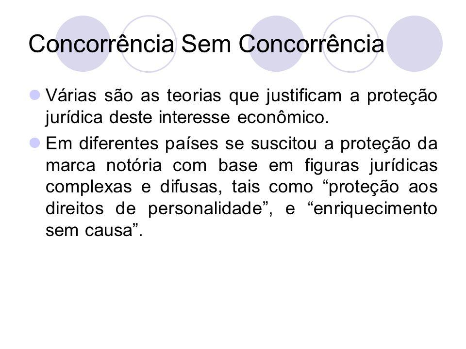 Concorrência Sem Concorrência Várias são as teorias que justificam a proteção jurídica deste interesse econômico. Em diferentes países se suscitou a p