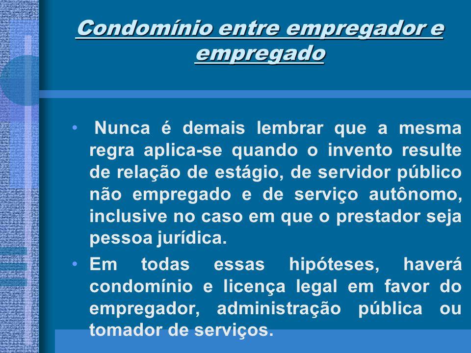 Condomínio entre empregador e empregado De outra lado, o condomínio só será em partes iguais se algo diverso não for pactuado.