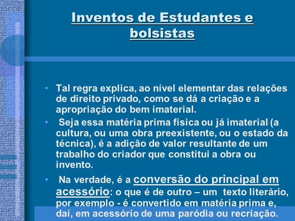Inventos de Estudantes e bolsistas Art.
