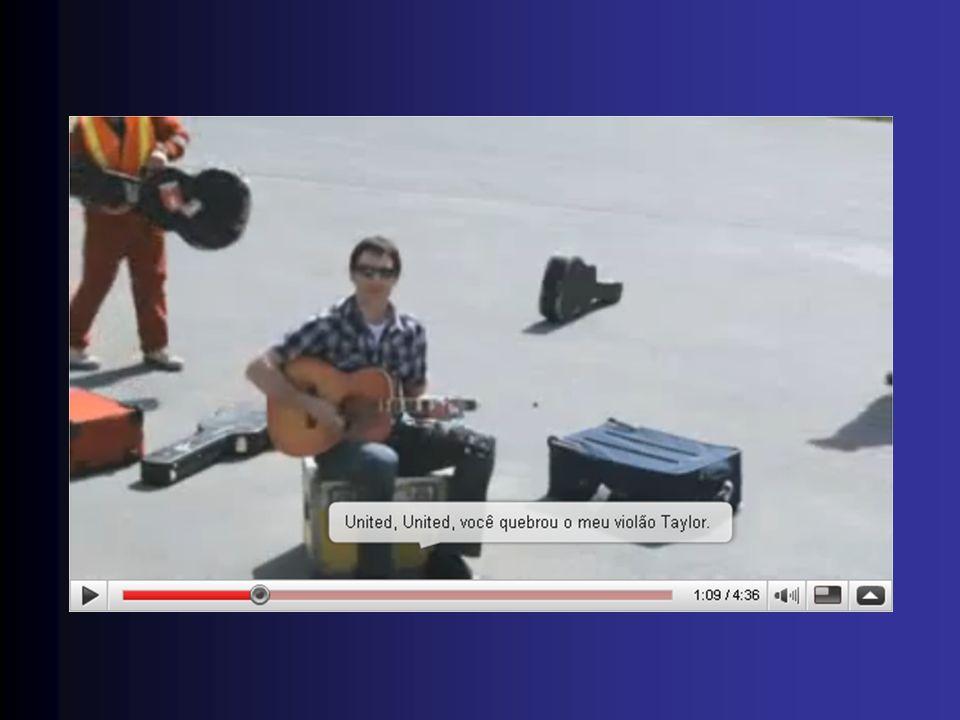 United Arlines quebra violão de Dave Carroll Tentou ser indenizado em US$ 2.000,00.