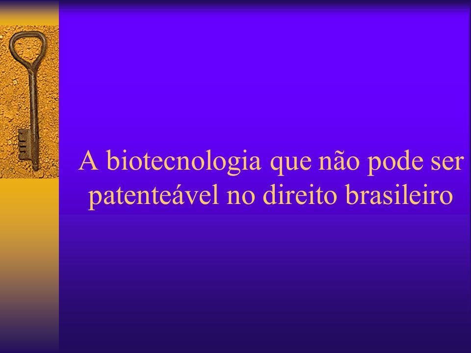 A biotecnologia que não pode ser patenteável no direito brasileiro