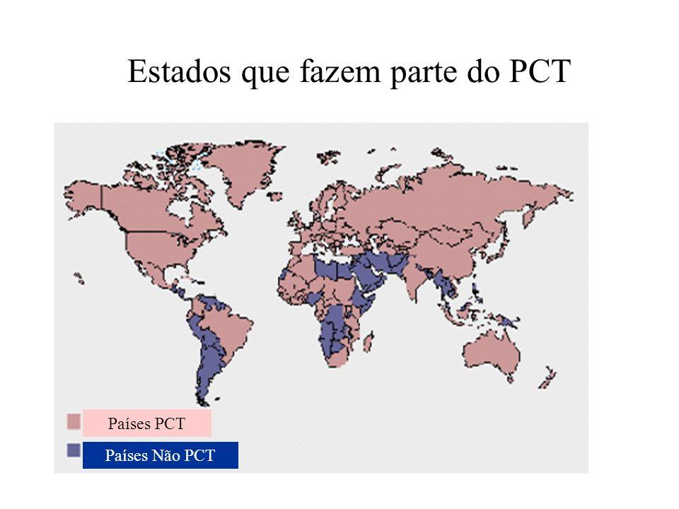 Países PCT Países Não PCT Estados que fazem parte do PCT